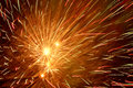 Fireworks in night sky bright Royalty Free Stock Photo