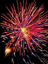 Fireworks outbreaks of in the night sky Stock Images