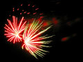 Fireworks outbreaks of in the night sky Royalty Free Stock Photography