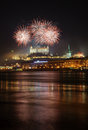 Fireworks over Bratislava Royalty Free Stock Photos