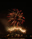 Fireworks over buffalo ny explode new york as they celebrate independence day Royalty Free Stock Image