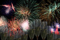 Fireworks party with champagne drinks and for parties like wedding new year sylvester independance days and others Stock Photos
