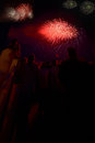 Fireworks people to see in cape cod Royalty Free Stock Images