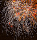 Fireworks photographed at a show on the th of july Royalty Free Stock Image