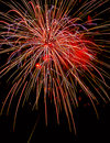 Fireworks photographed at a show on the th of july Royalty Free Stock Photography