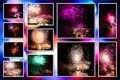 Fireworks pictures collage Royalty Free Stock Photo