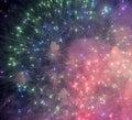 Fireworks at Rapallo Royalty Free Stock Photo