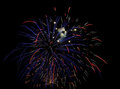 Fireworks in Red, White and Blue Royalty Free Stock Image