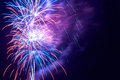Fireworks salute beautiful with copyspace left or right Stock Photo