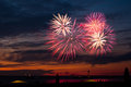Fireworks at Scheveningen Royalty Free Stock Images
