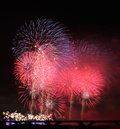 Fireworks show in Taiwan Royalty Free Stock Photo