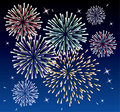 Fireworks and stars Stock Photography