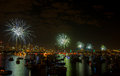 Fireworks Sydney new years eve 2013 Royalty Free Stock Photos