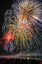 Fireworks to the evening sky Royalty Free Stock Photography
