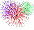 Fireworks on White Background Royalty Free Stock Photo