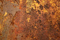 Firey Rust metal background texture Royalty Free Stock Photography