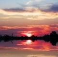 Firey Sunrise Stock Photo
