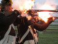 Firing Their Muskets Stock Photo