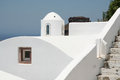 Firostefani hotel santorini a view from a in village greece Royalty Free Stock Photos