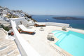 Firostefani hotel santorini a view from a in village greece Royalty Free Stock Images