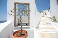 Firostefani hotel santorini a view from a in village greece Stock Image