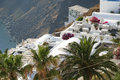Firostefani hotel santorini a view from a in village greece Royalty Free Stock Photo