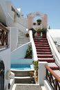 Firostefani hotel santorini a in village island greece Royalty Free Stock Photos