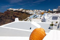 Firostefani santorini greece near fira on thira island in the distance is imerovigli Stock Image