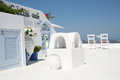 Firostefani santorini a hotel in village island greece Stock Photography