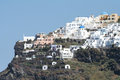 Firostefani santorini a view from village greece Royalty Free Stock Photo