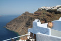 Firostefani santorini a view from village greece Stock Image