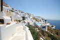 Firostefani santorini a view from a the village greece Stock Photography
