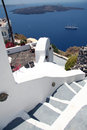 Firostefani santorini a view from village greece with a view from the caldera Stock Photo
