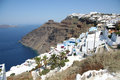 Firostefani santorini the view of village island greece Royalty Free Stock Image