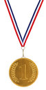 First / 1st Place Gold Medal Stock Photography