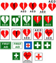 First Aid - AED signs