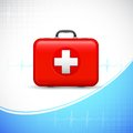 First aid box illustration of on medical background Stock Photos