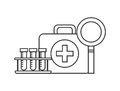 First aid briefcase icon