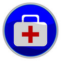 First aid button Royalty Free Stock Photo