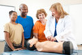 First Aid CPR Class for Adults Royalty Free Stock Photo