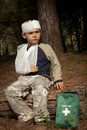 First Aid in the Forest Stock Photography