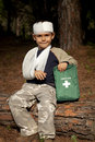 First Aid in the Forest Stock Photos