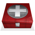 First aid kit box vector illustration of Stock Photos