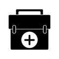 First aid kit emergency equipment pictogram