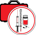 First aid kit icon for design illustration Royalty Free Stock Image
