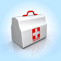 First aid kit illustration of a Royalty Free Stock Photos
