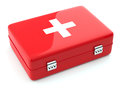 First aid kit isoalted d render of on white background Stock Image