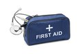 First aid kit isolated on white background Stock Photos