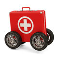 First Aid Kit on Wheels Stock Image