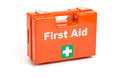 A first aid kit on white background Royalty Free Stock Image